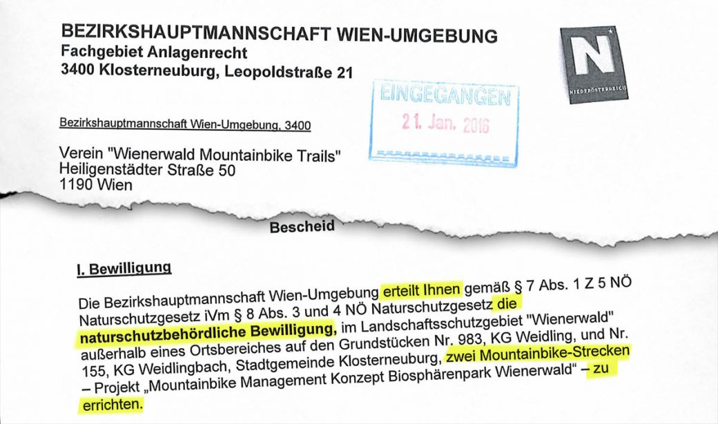 Wienerwald Trails Bescheid