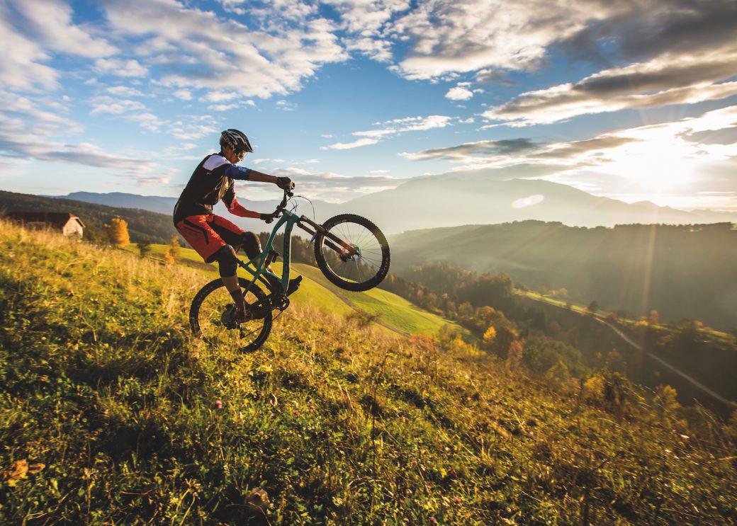 Single Trail Park Jamnica Slowenien Karawanken