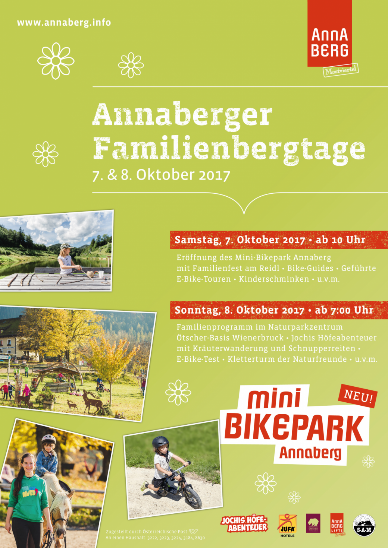 Annaberger Familientage Mini-Bikepark Annaberg