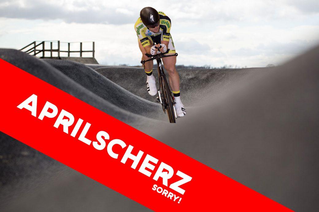 Pumptrack Christoph Strasser 24 Stunden Weltrekord Aprilscherz