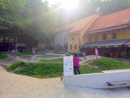 Pumptrack KoloPark Ljubljana Slowenien