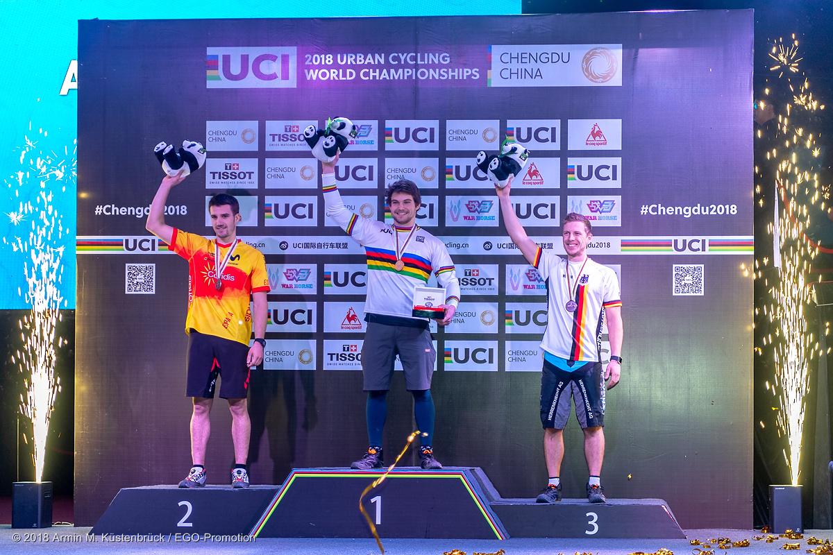 Thomas Pechhacker Podium Trial Weltmeister Chengdu China