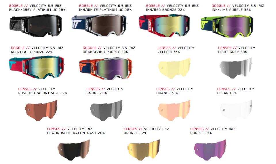 Leatt Velocity 6.5 Goggle Range