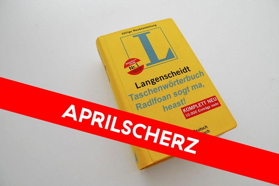 Wörterbuch Max Popp Aprilscherz