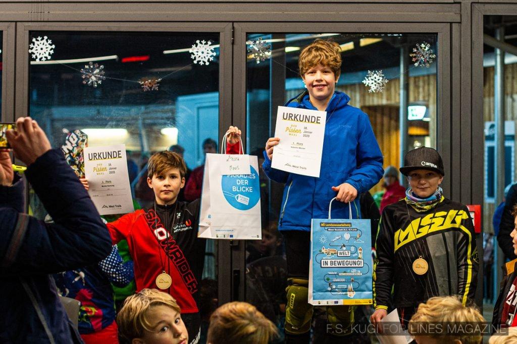 Der Pistenwexl 2020 Wexl Trails schneefräsn Kinder Podium