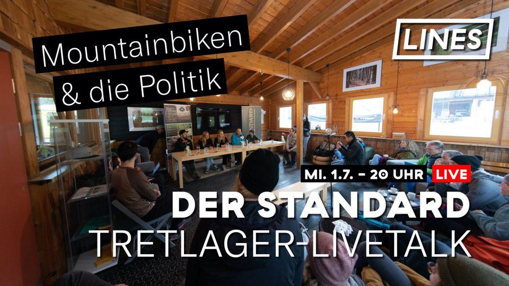 Der Standard LINES Tretlager-Livetalk Parteien Partei Mountainbiken