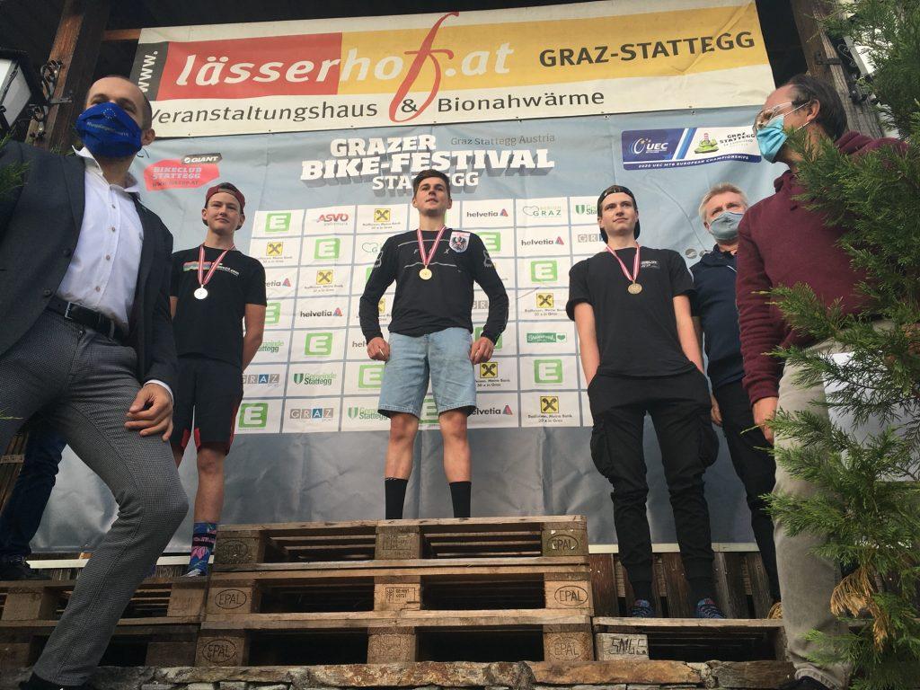 Ergebnisse Enduro ÖM 2020 Sieger Junioren Noah Hofmann Julian Auer Timmy Fockenberger