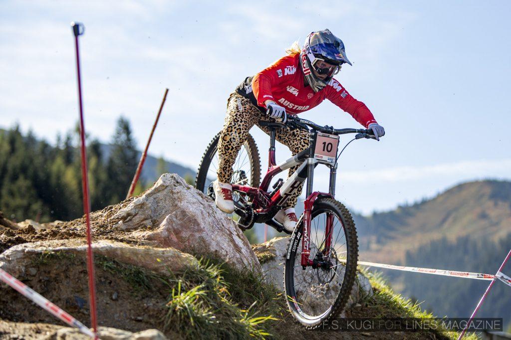 MTB WM Leogang 2020 Downhill Qualifikation Damen Vali Höll