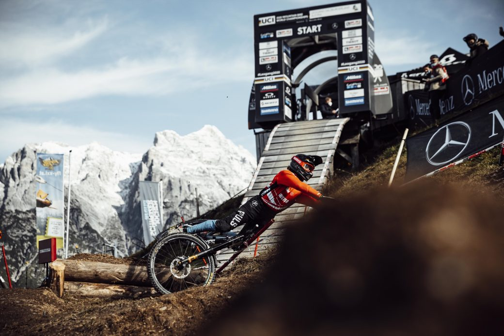 MTB WM Leogang 2020 Downhill Qualifikation Junioren Nico Ofner