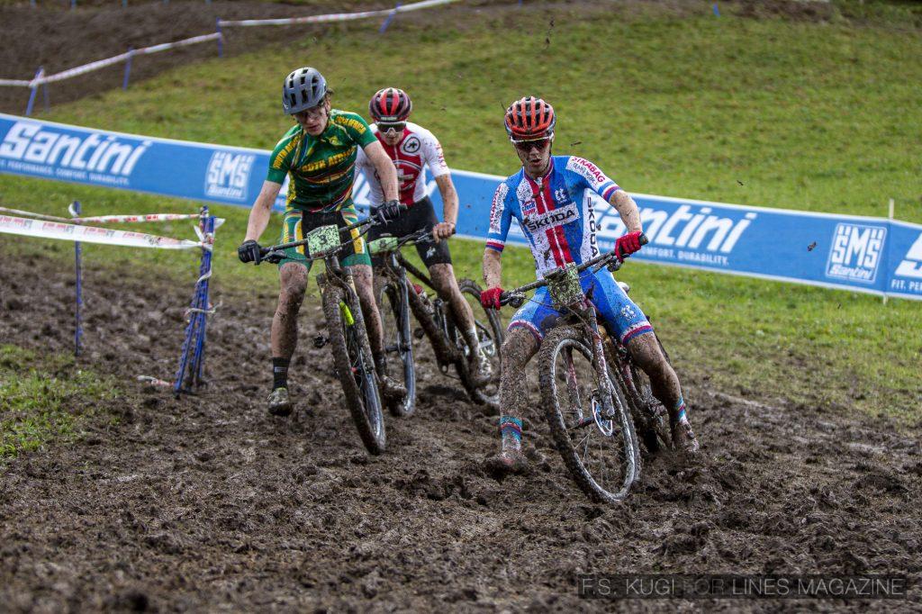 MTB WM Leogang 2020 XC Junioren Schlamm Abfahrt