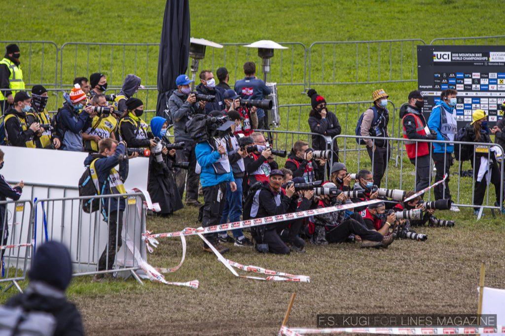 MTB WM Leogang 2020 XCO Herren Start Fotografen