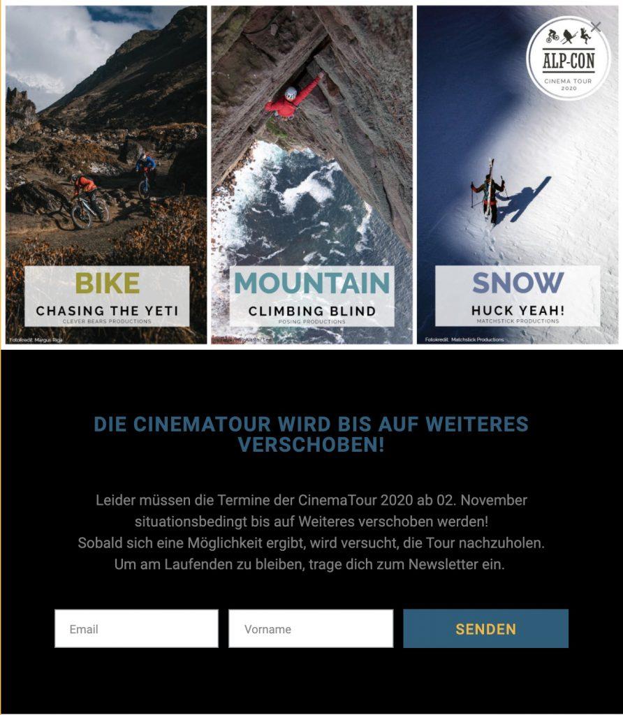 Alp-Con CinemaTour Pause Lockdown