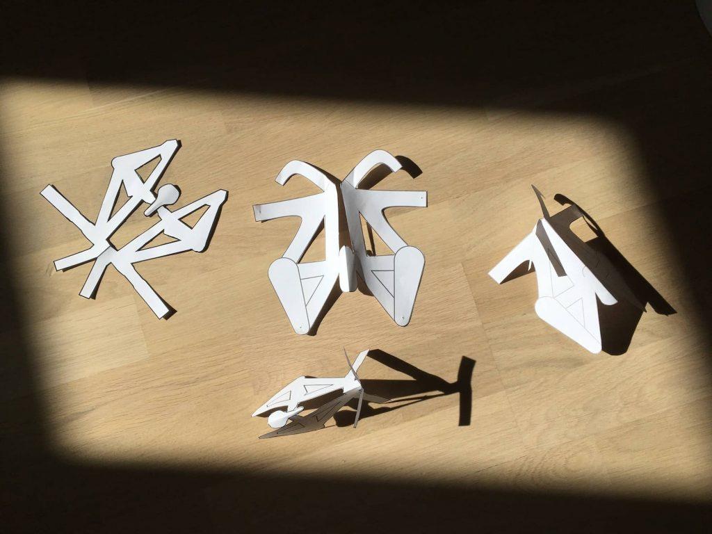 Papier Mountainbike Formen
