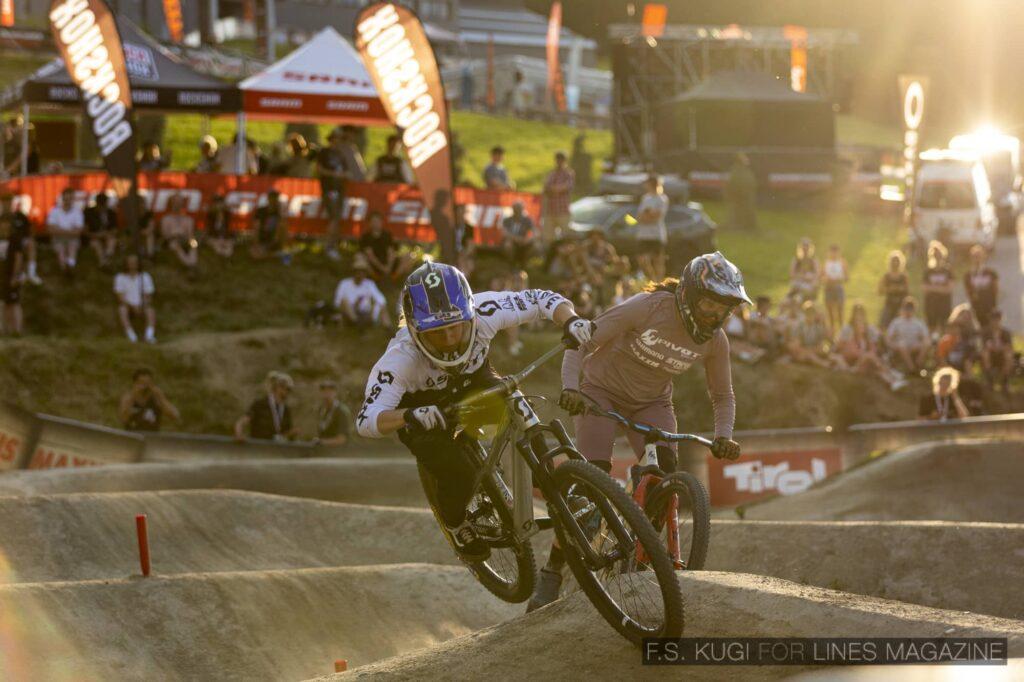Crankworx Innsbruck 2021 Pumptrack Finale Herren Mathilde Bernard Kialani Hines
