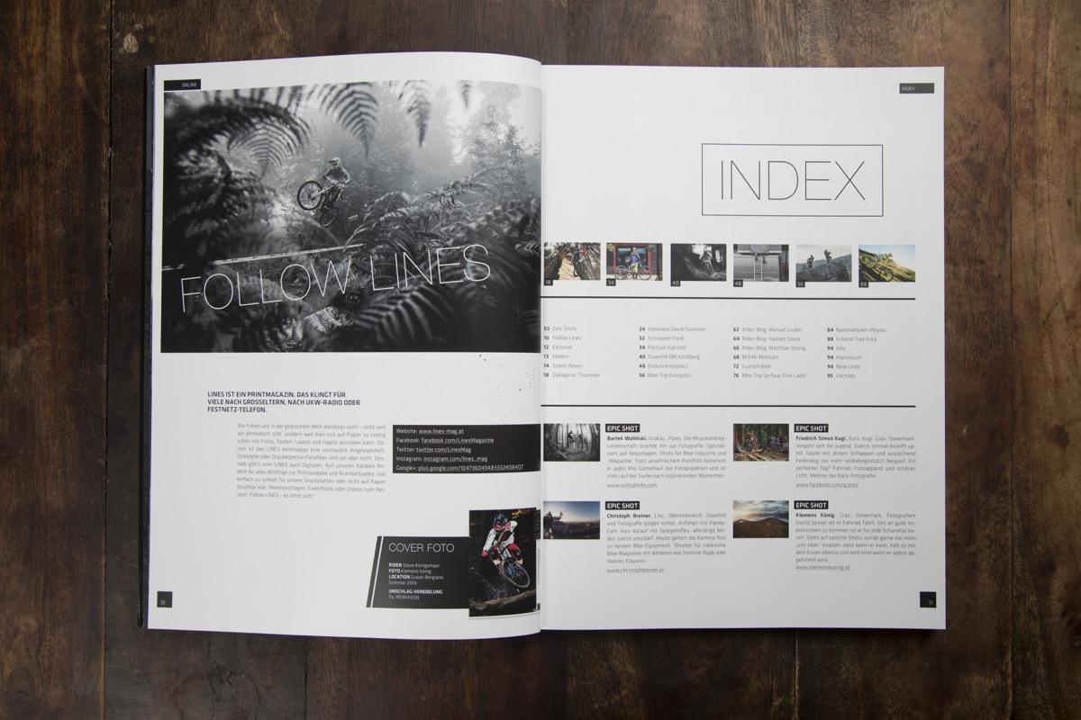 LINES Issue #1 | Inhaltsverzeichnis