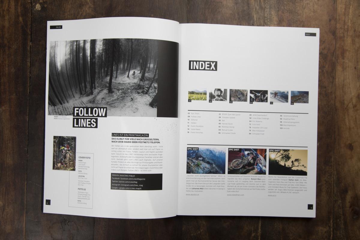 LINES Issue #2 | Inhaltsverzeichnis