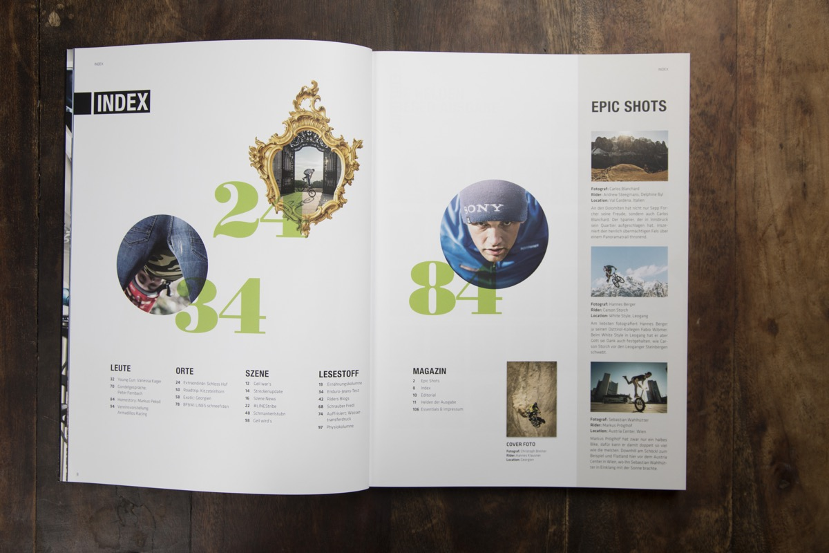 LINES Issue #5 | Inhaltsverzeichnis
