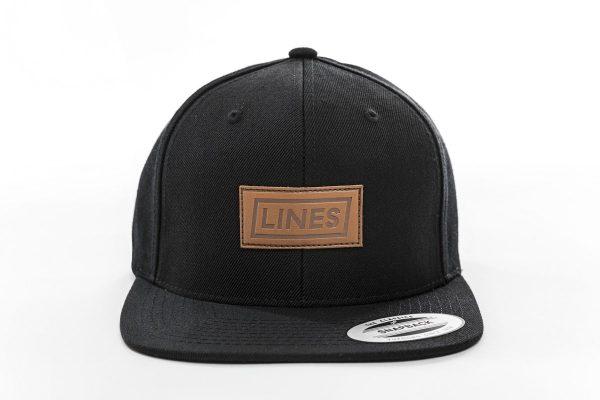 Cap Leather black front
