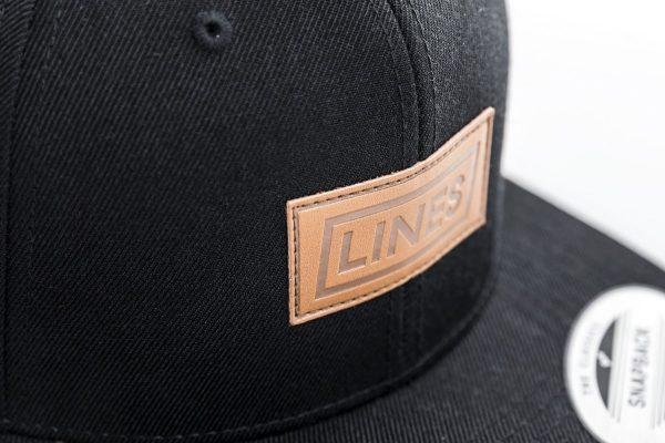 Cap Leather black close up
