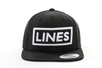 LINES Cap Snapback 3D Stick weiß Front