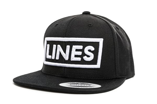 LINES Cap Snapback 3D Stick weiß Side