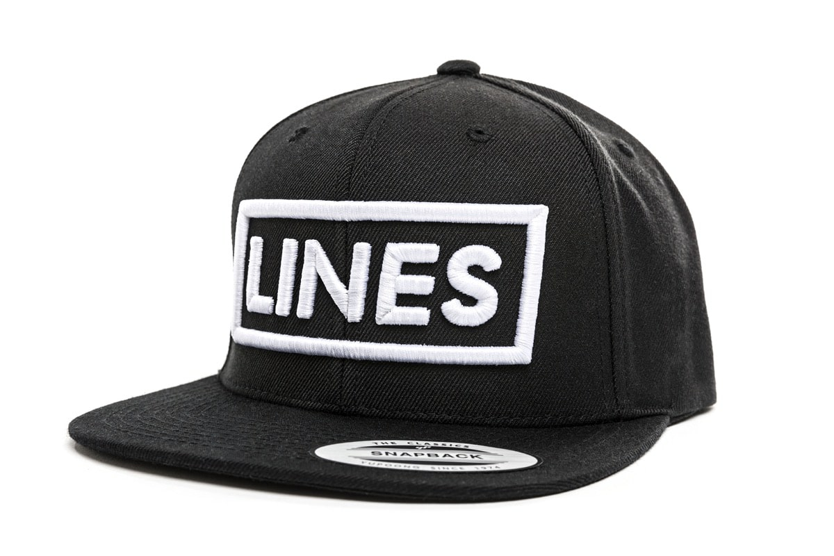 LINES Cap Snapback 3D Stick weiß Side