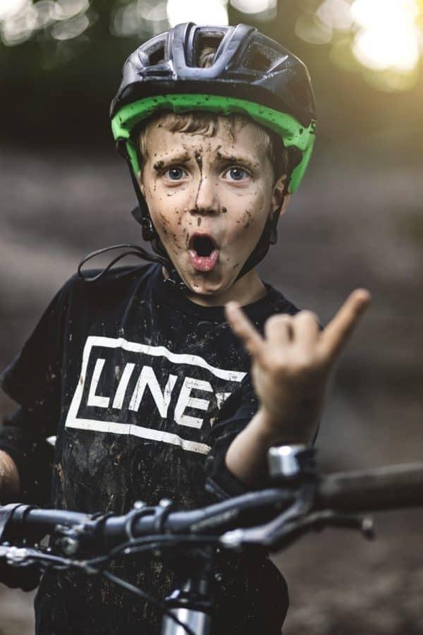 LINES Kids Tee Black T-Shirt Kinder