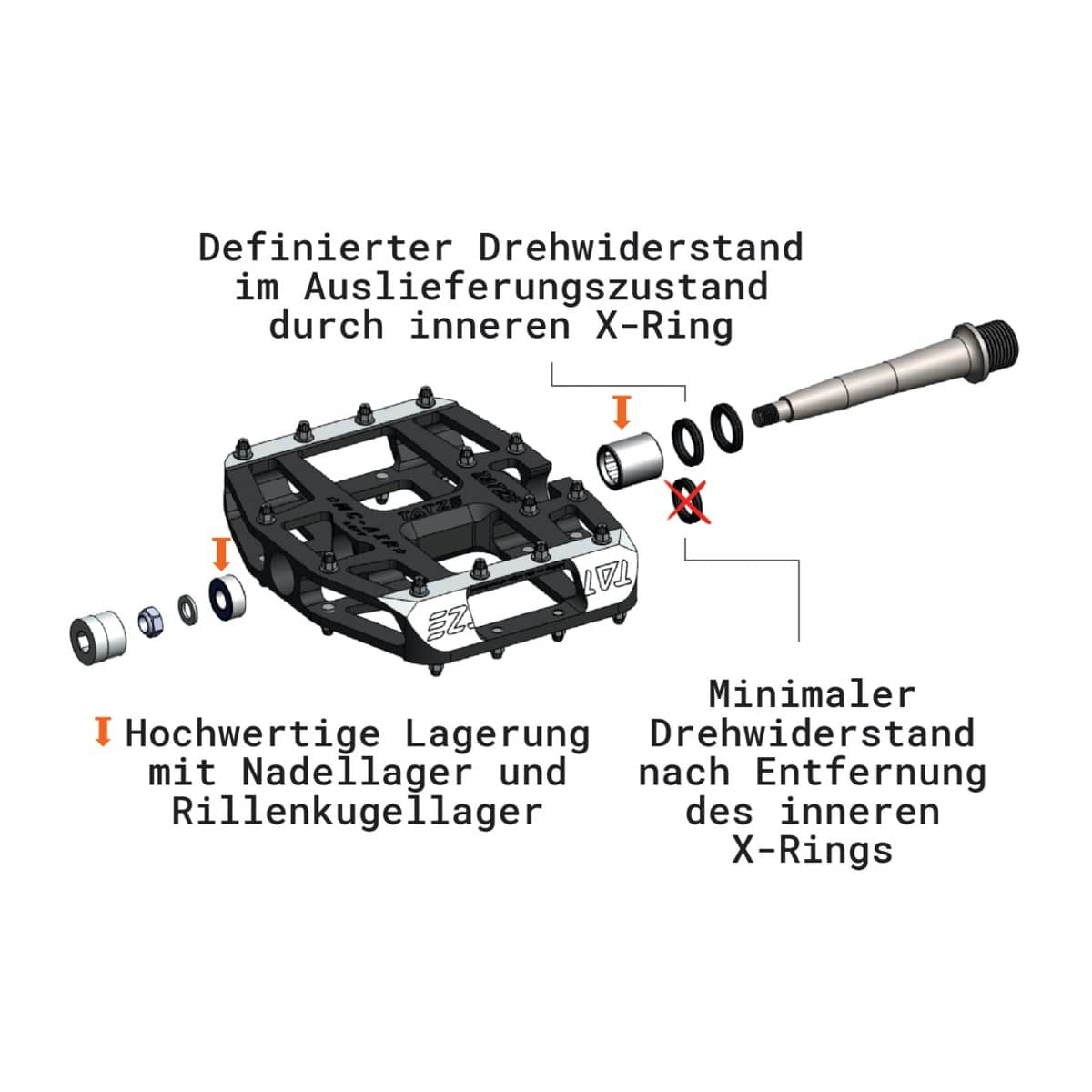 Tatze bike-components MC-AIR TI