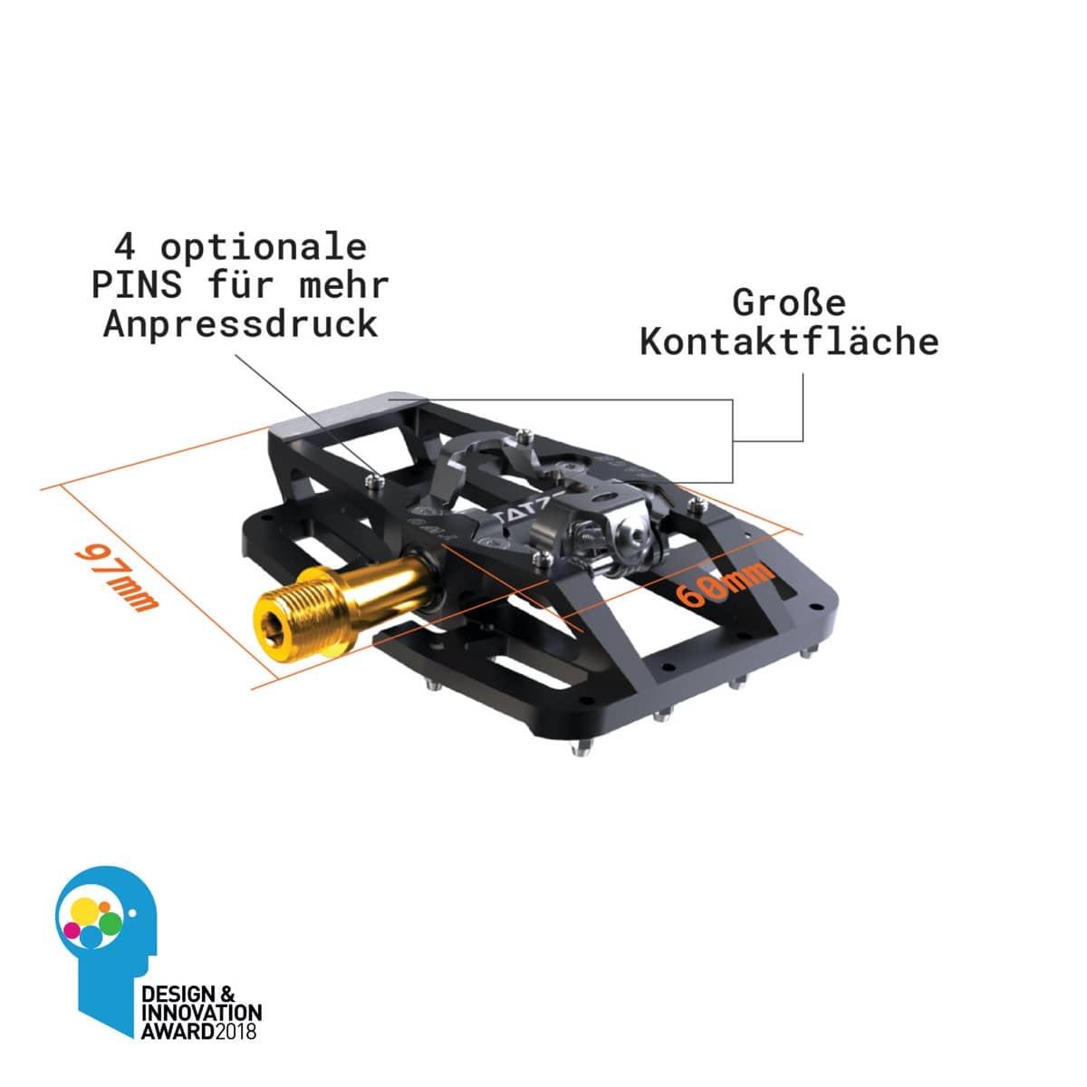 Tatze bike-components TWO-FACE TI